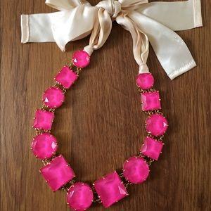 Kate Spade Huge Pink Gemstone necklace